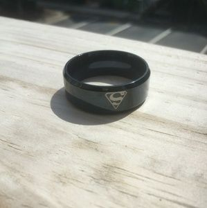 Other - Superman Logo Black Stainless Steel